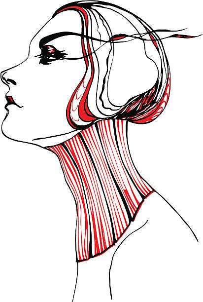 graceful vector art illustration