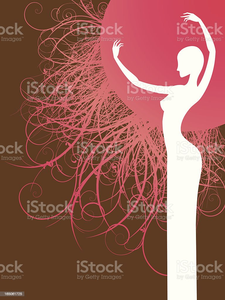 Gracefull girl royalty-free gracefull girl stock vector art & more images of abstract