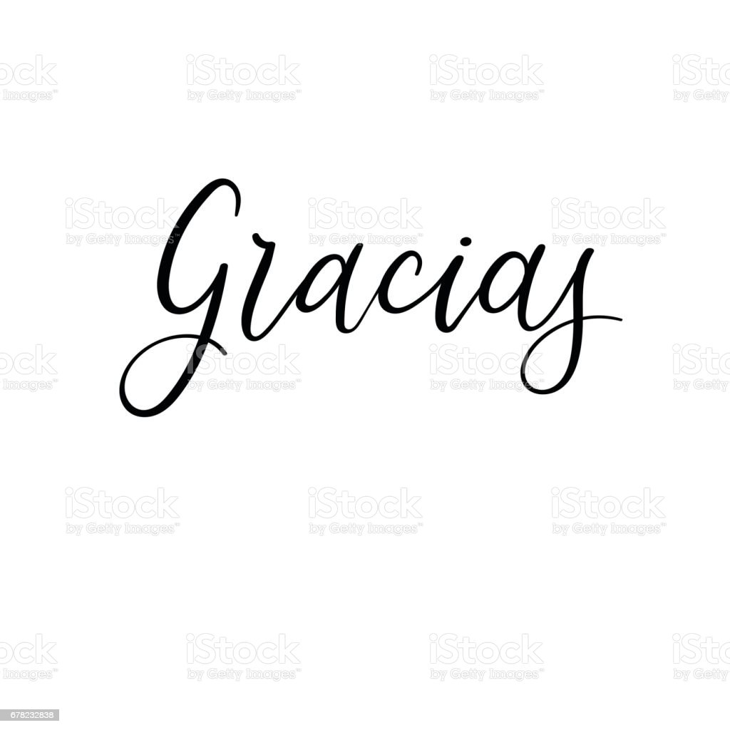 Gracias hand lettering card thank you in spanish modern gracias hand lettering card thank you in spanish modern calligraphy royalty free gracias expocarfo