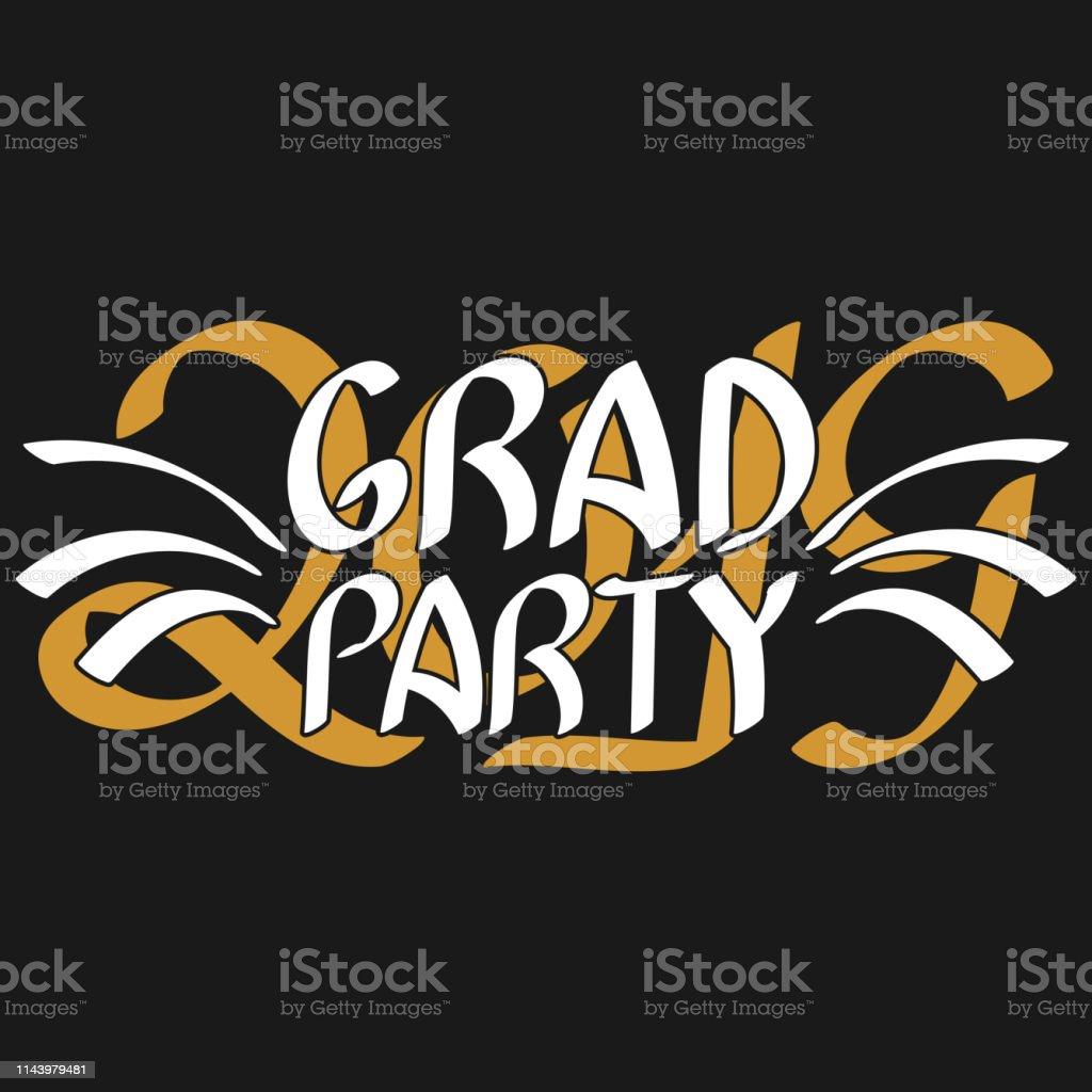Grad Party Vector Graduation Design High School Or College