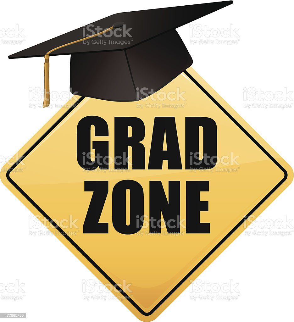 Grad Zone Sign royalty-free stock vector art