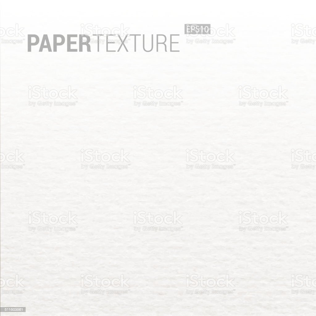 Gradation Realistic White Paper Background Texture. vector art illustration