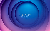 istock Gradient background. Abstract circle papercut smooth color composition. 1253888762