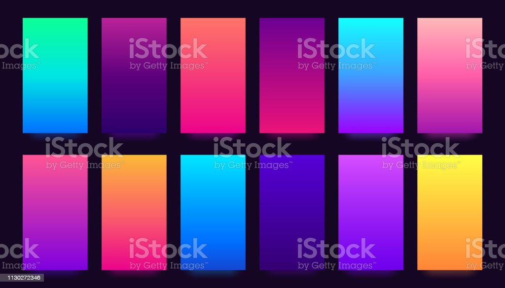 Gradient background. Colorful gradients, blurred colors and vivid...