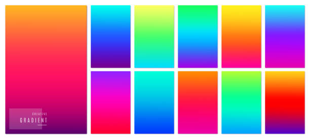 gradient background. creative soft color design for mobile app. - vibrant color stock illustrations