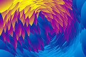 Gradient color composition Bloom fantasy petals Abstract vector background