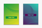 Gradient colored simple covers. Colorful geometric shapes composition.