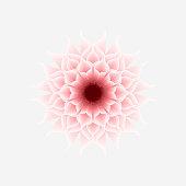 gradient flower pattern