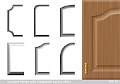 A set of gradient frames of textures with a transparent blending effect. Diffuse light. Vector graphics. Texture for furniture and interior facades