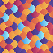 Gradient geometric composition vector pattern illustration. Abstract background design with vibrant colors.