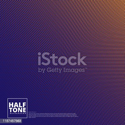 Modern abstract background with halftone composition is trending design style for today.