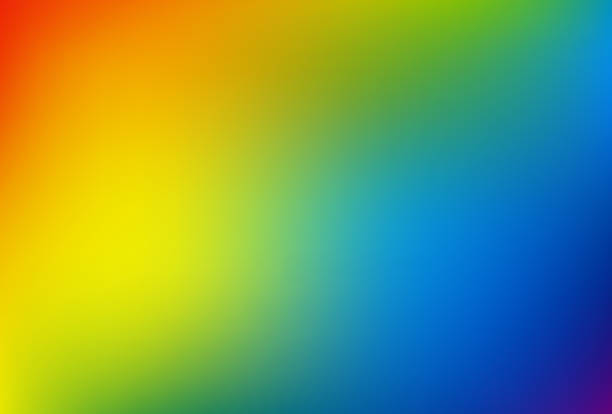 Gradient mesh blurred background in soft rainbow colors. vector art illustration