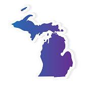 gradient Michigan map