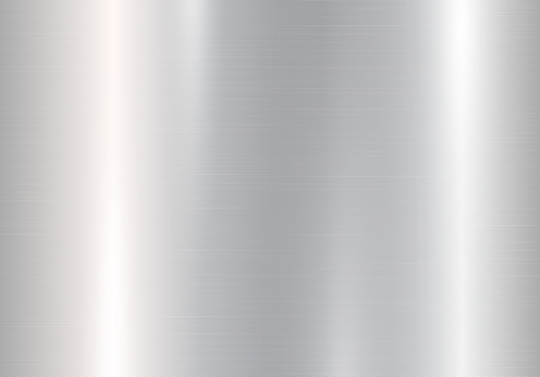 Gradient of silvery metal