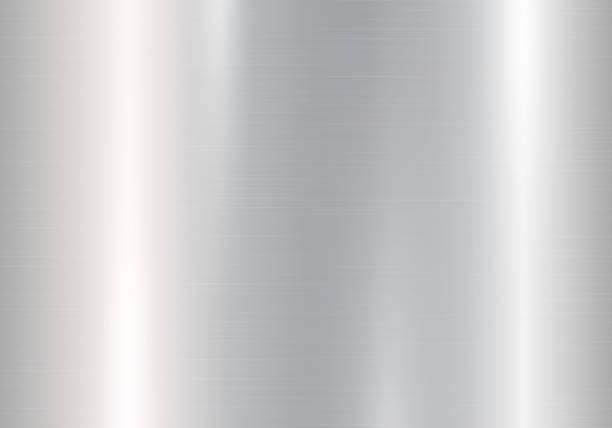градиент серебристого металла - блестящий stock illustrations