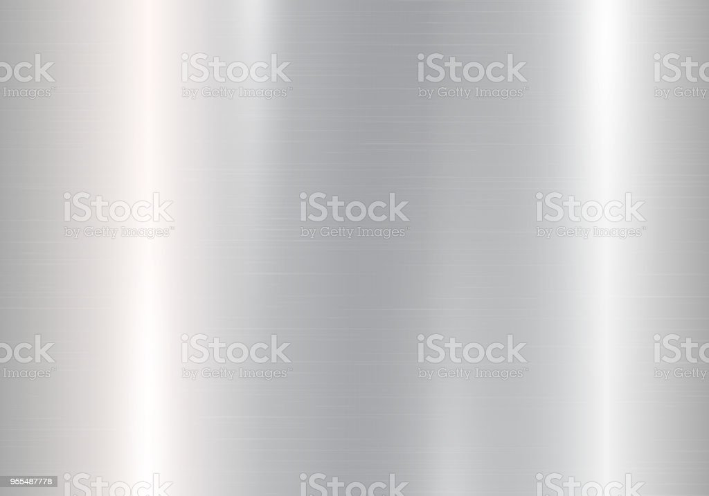 Gradient of silvery metal vector art illustration