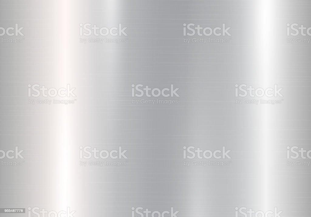 Gradiente de metal plateado - ilustración de arte vectorial