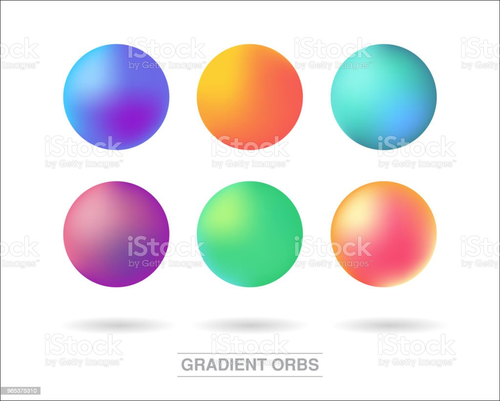 Gradient orbs set isolated on white background royalty-free gradient orbs set isolated on white background stock vector art & more images of abstract