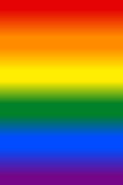Farbverlauf Regenbogen Flagge LGBT-Hintergrund – Vektorgrafik