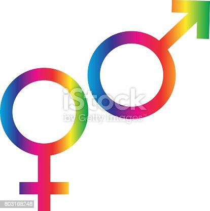 Gradient Rainbow Male Female Symbols Stock Vector Art More Images