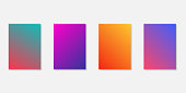 Gradient screen backgrounds templates isolated. Mobile application templates. Website gradient wallpaper. EPS 10
