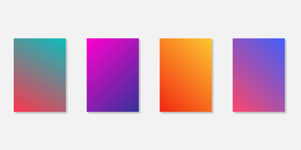 Gradient screen backgrounds templates isolated. Mobile application templates. Website gradient wallpaper. Gradient screen backgrounds templates isolated. Mobile application templates. Website gradient wallpaper. EPS 10 hill stock illustrations