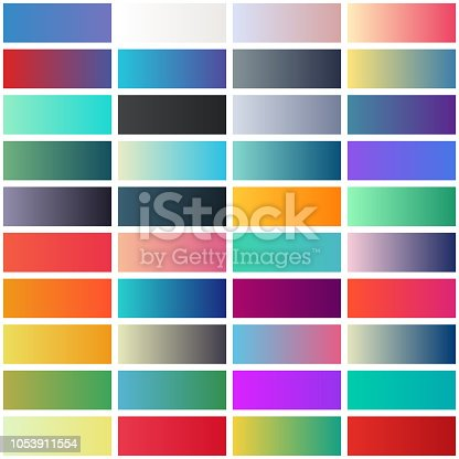 collection of fine gradients, suitable as web backgrounds and as graphic design elements
