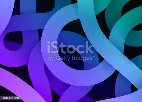 istock Gradient Swirl Abstract Glow Modern Lines Background Pattern 1309287240
