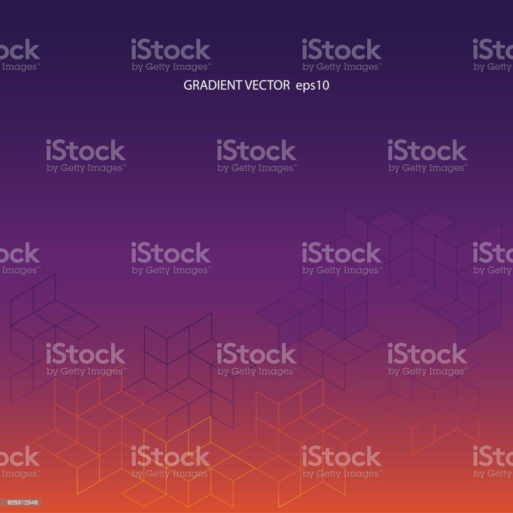 Fundo do vetor gradiente do roxo ao laranja - ilustração de arte em vetor