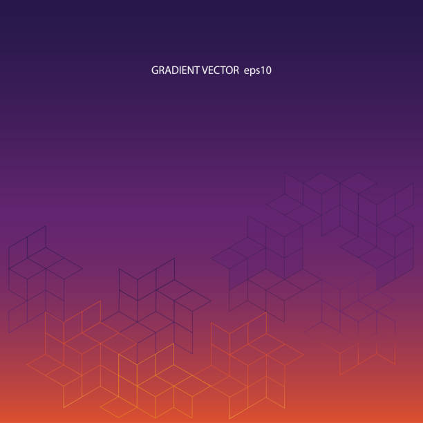 gradient vector background from purple to orange - abstract calendar stock illustrations, clip art, cartoons, & icons