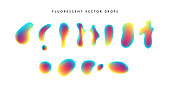 Gradient vivid shapes. Modern abstract colorful vector fluid collection.