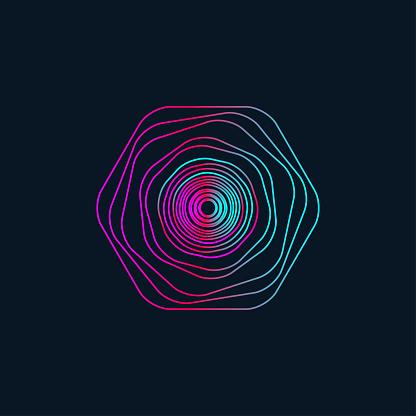 gradient wavy circle