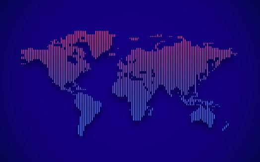 Gradient World Map