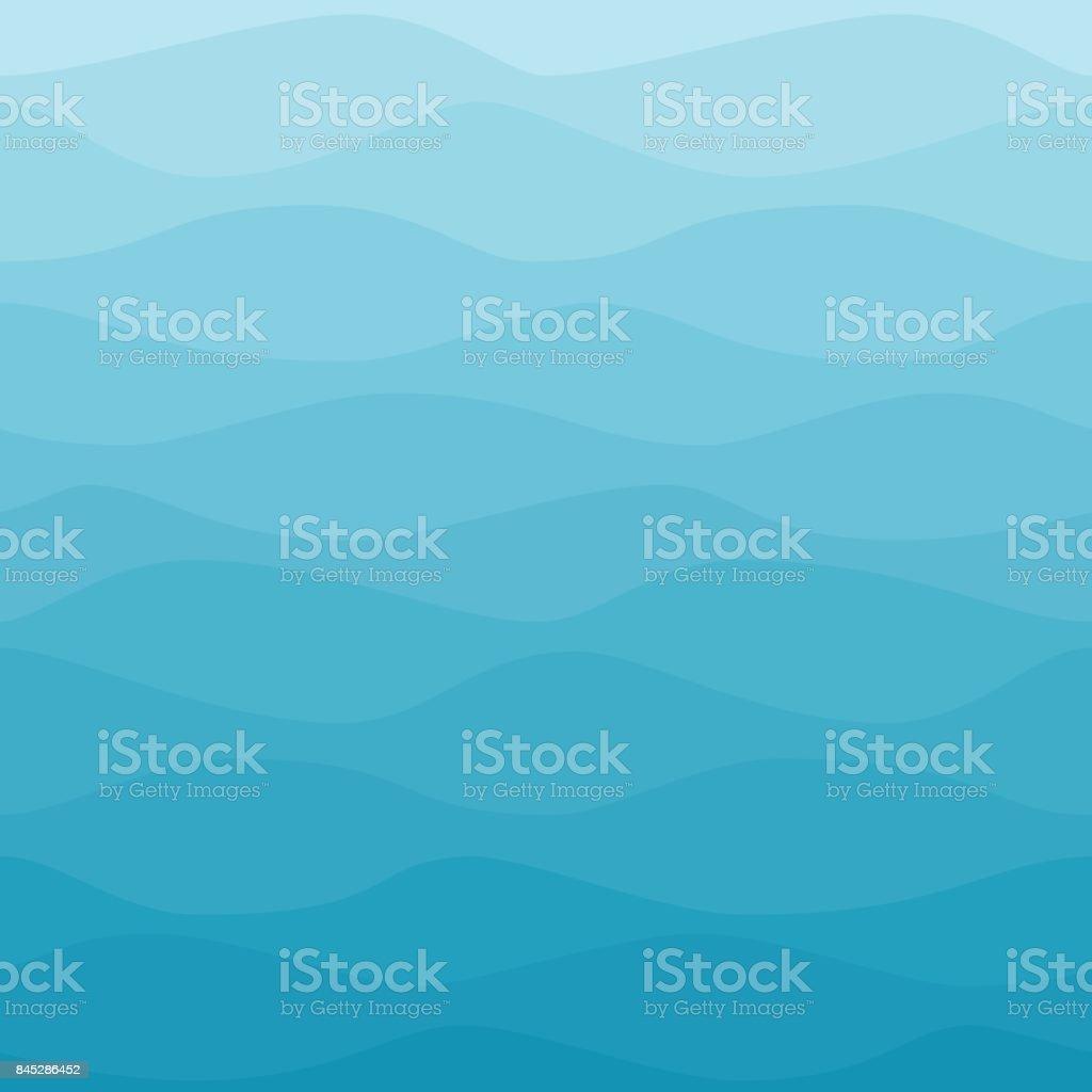 Gradual wavy blue winter background vector art illustration