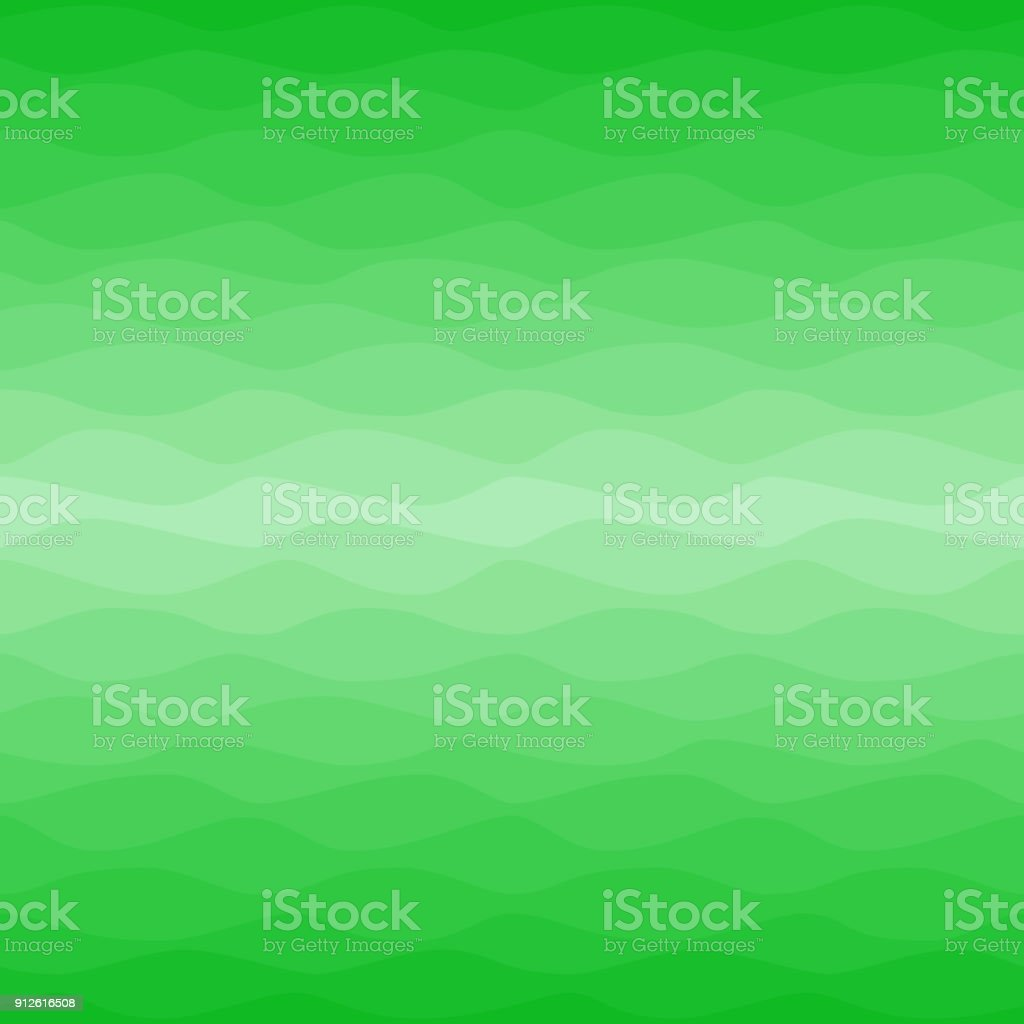 Gradual wavy green background vector art illustration