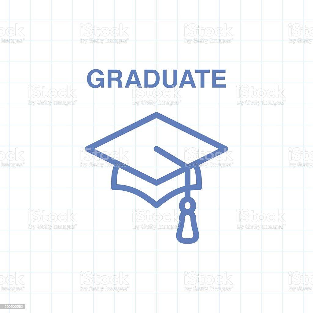 Graduate vector icon vector art illustration