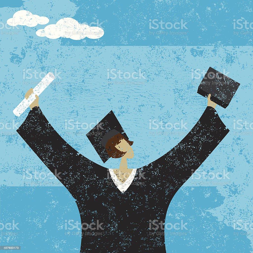graduate royalty-free stock vector art
