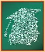 Graduate Woman educational royalty free vector art Blackboard