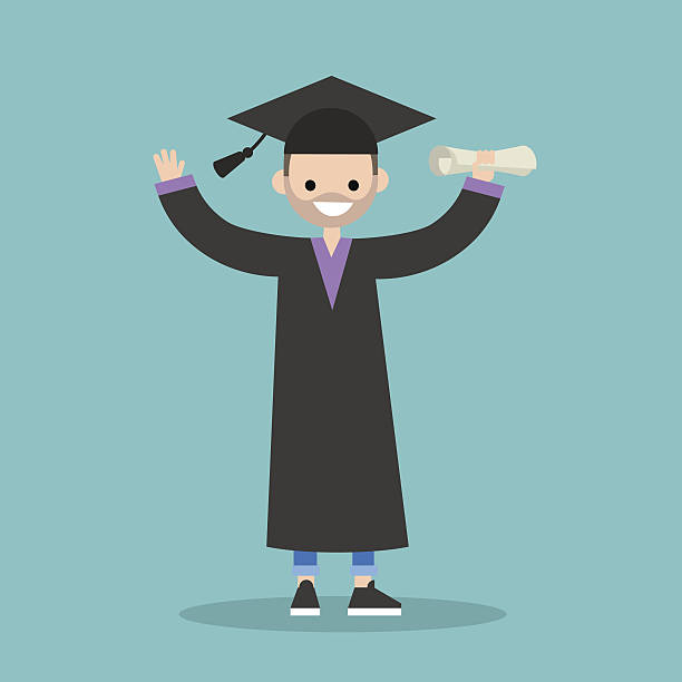 Royalty Free Cap And Gown Ideas Cartoon Clip Art, Vector Images ...