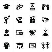 Graduates and Graduation Icons