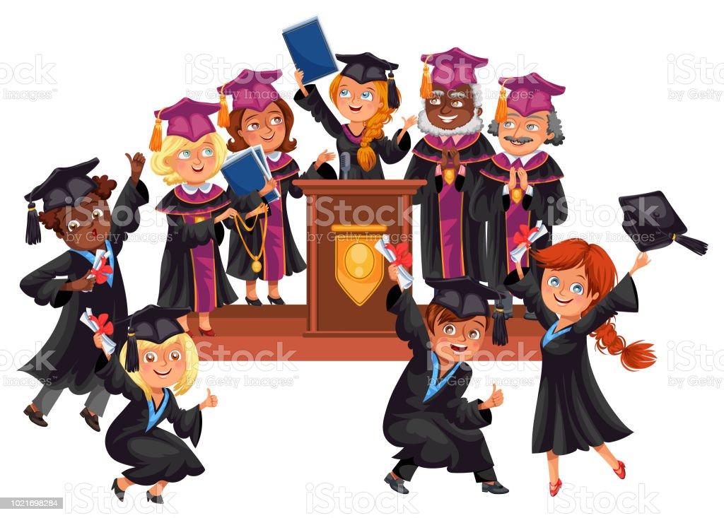 Absolventinnen Und Absolventen Feiern Abschluss Der Ausbildung