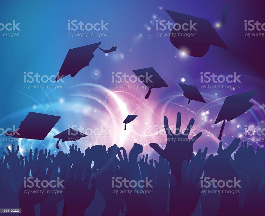 Graduados de celebrar - ilustración de arte vectorial