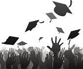 Graduates graduation crowd