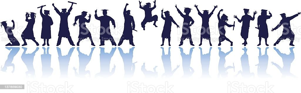 Graduates Partying royalty-free graduates partying stock vector art & more images of adult