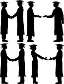 Graduates Shaking Hands