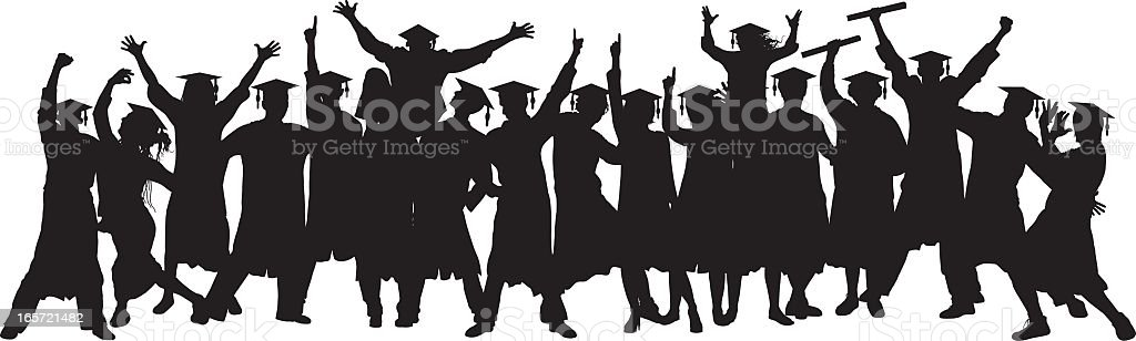 Graduates (People Are Moveable and Complete) royalty-free stock vector art