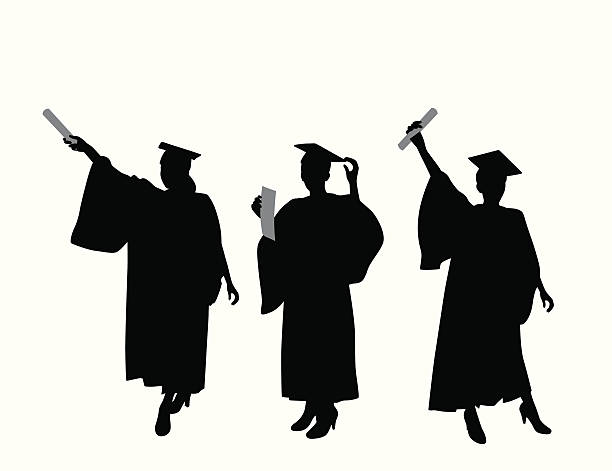 Royalty Free Graduation Silhouette Clip Art, Vector Images ...