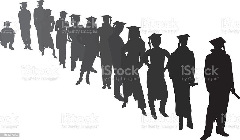 Graduates Waiting royalty-free graduates waiting stock vector art & more images of adult