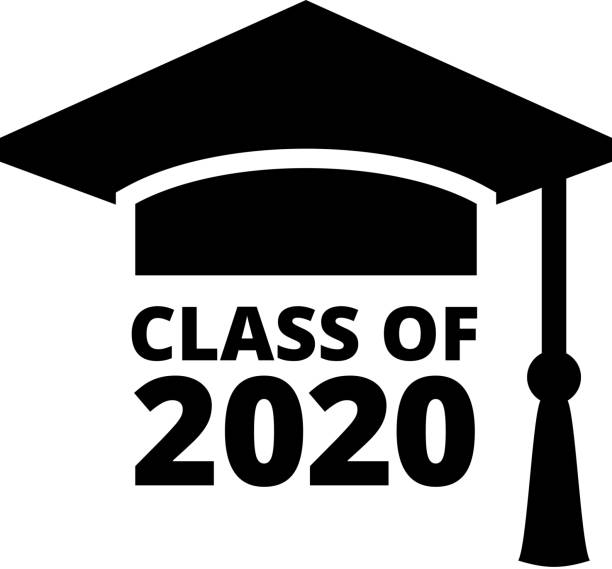 Graduating Class of 2020 vector art illustration