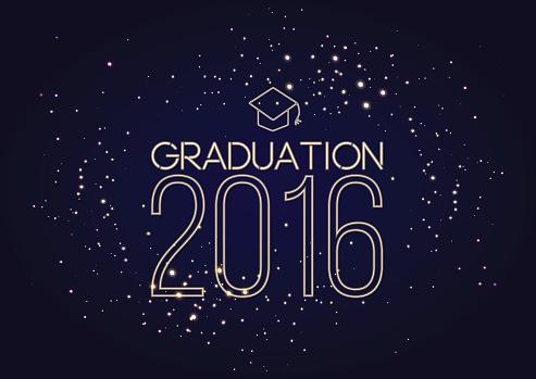 Graduation 2016 class of, shining luxury design